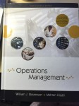 MGCR 472: Operations Management by William J. Stevenson, Mehran Hojatti. (3rd Canadian edition)