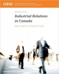 INDR 294 – Industrial Relations in Canada (2nd Edition) Robert Hebdon and Travor brown 2012