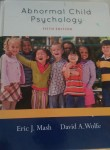 Abnormal Child Psychology PSYCH 412 5th