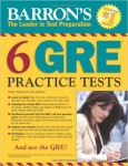 Barron's 6 GRE Practice Tests (BRAND NEW)