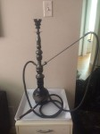 Beautiful Glass and Metal Hookah