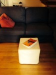Stool, footrest, side tables, shoe rack