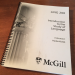 LING200 – Introduction to the Study of Language Course Pack