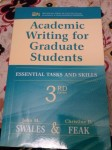 """Need """"Academic writing for graduate students by Swales & Feak 3rd edition"""""""