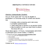 Drinking Context Study-Paid Research Participants Needed