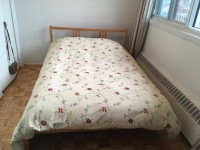 Selling bed + mattress- excellent condition