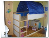 KURA: IKEA Kids bunk bed with tent. Mattress is included. Asking: $100 (pickup only)