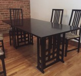 Black wood kitchen table for sale