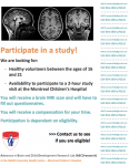 Brain MRI study, looking for males 16-22
