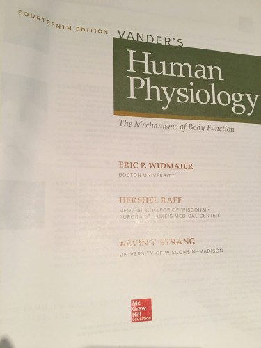 Vander S Human Physiology 14th Edition Marketplace Students