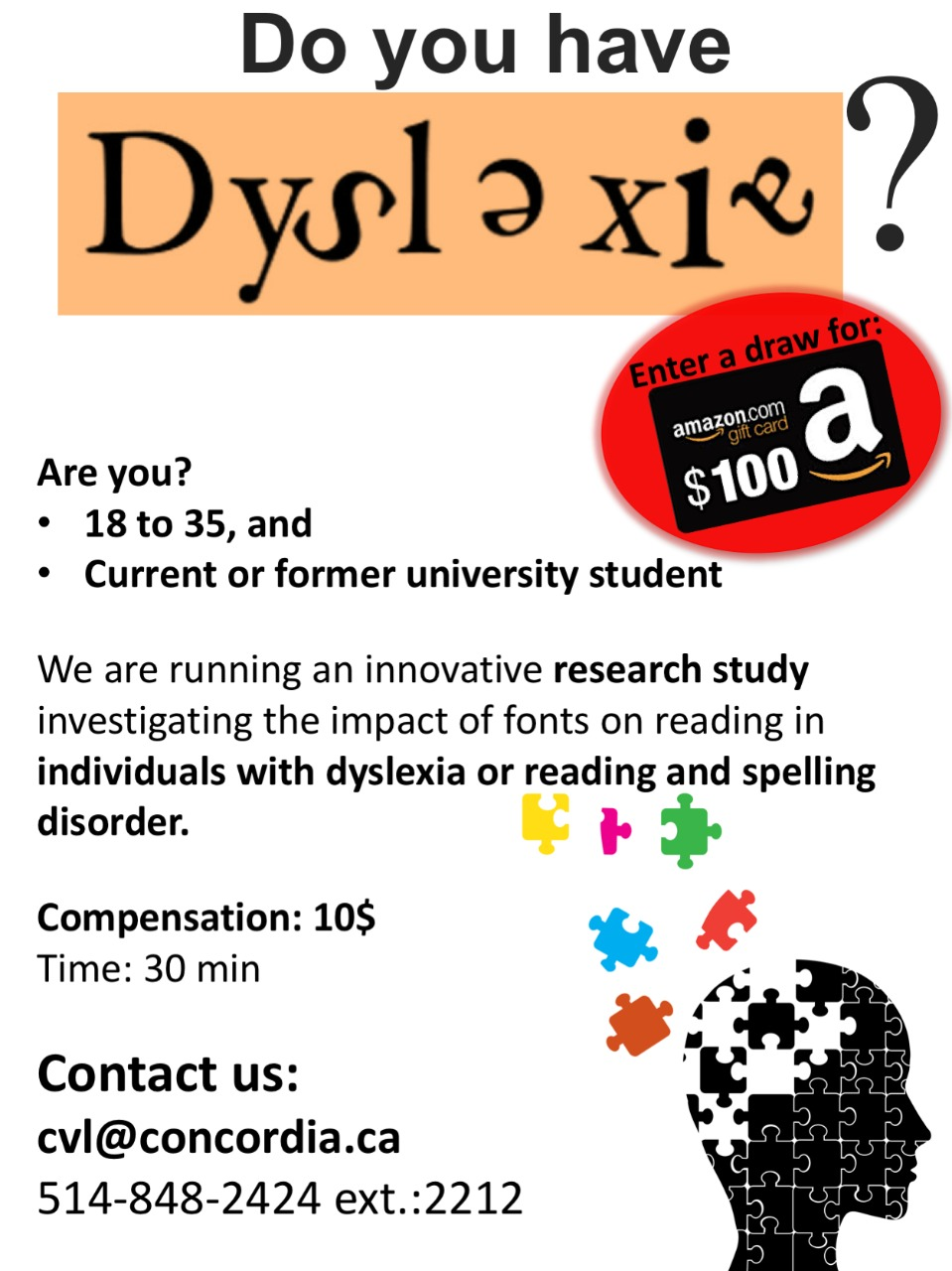Are you dyslexic? Take part in research | Marketplace – Students