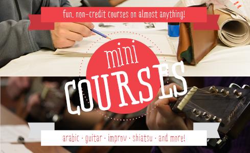 MiniCourses Flyer (Front)