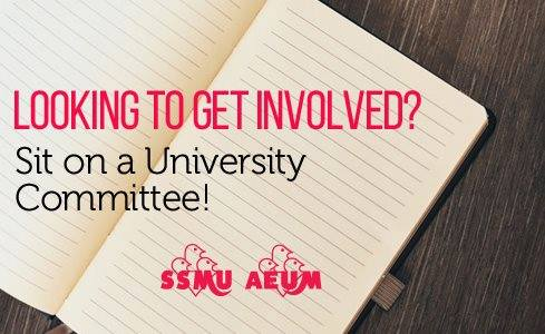 Sit on a University Committee!