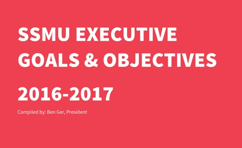 SSMU Executive Goals & Objectives
