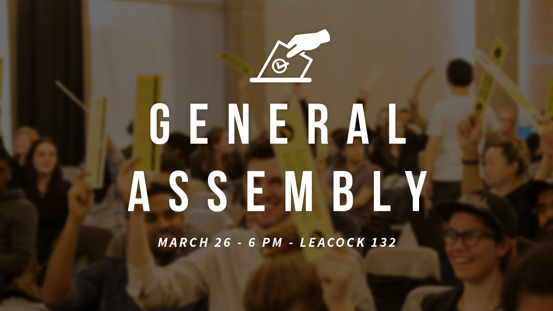 SSMU General Assembly - Winter 2018