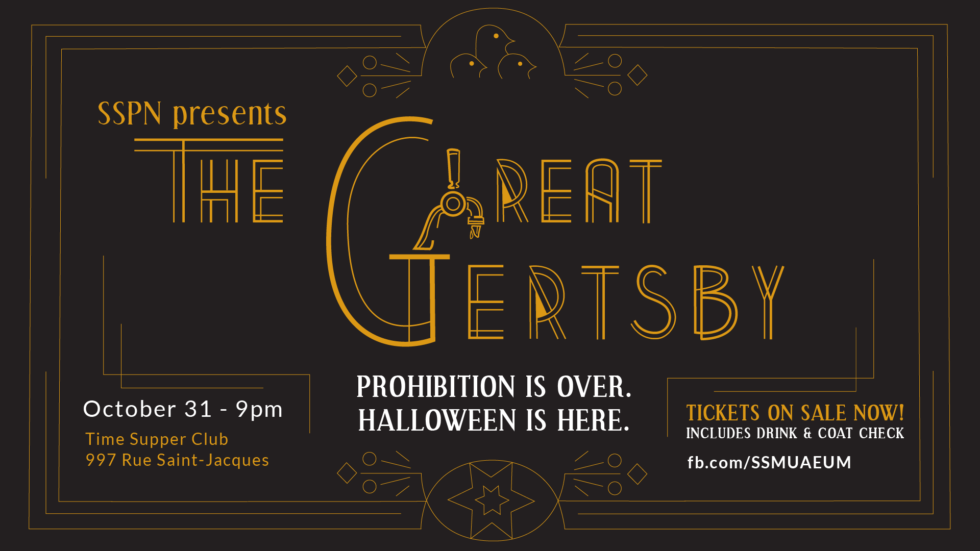 The Great Gertsby Halloween Party