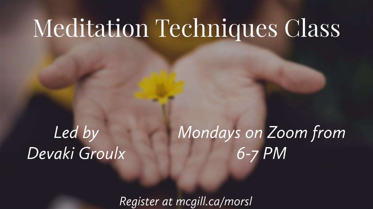 Meditation Techniques Class