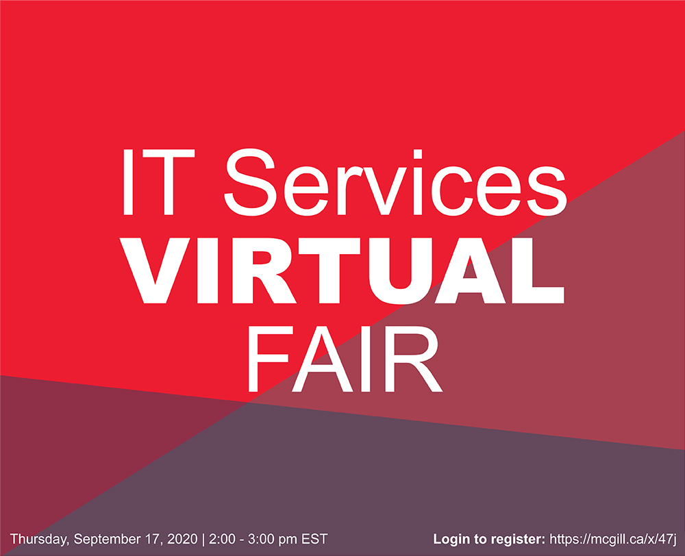 McGill IT Services Virtual Fair