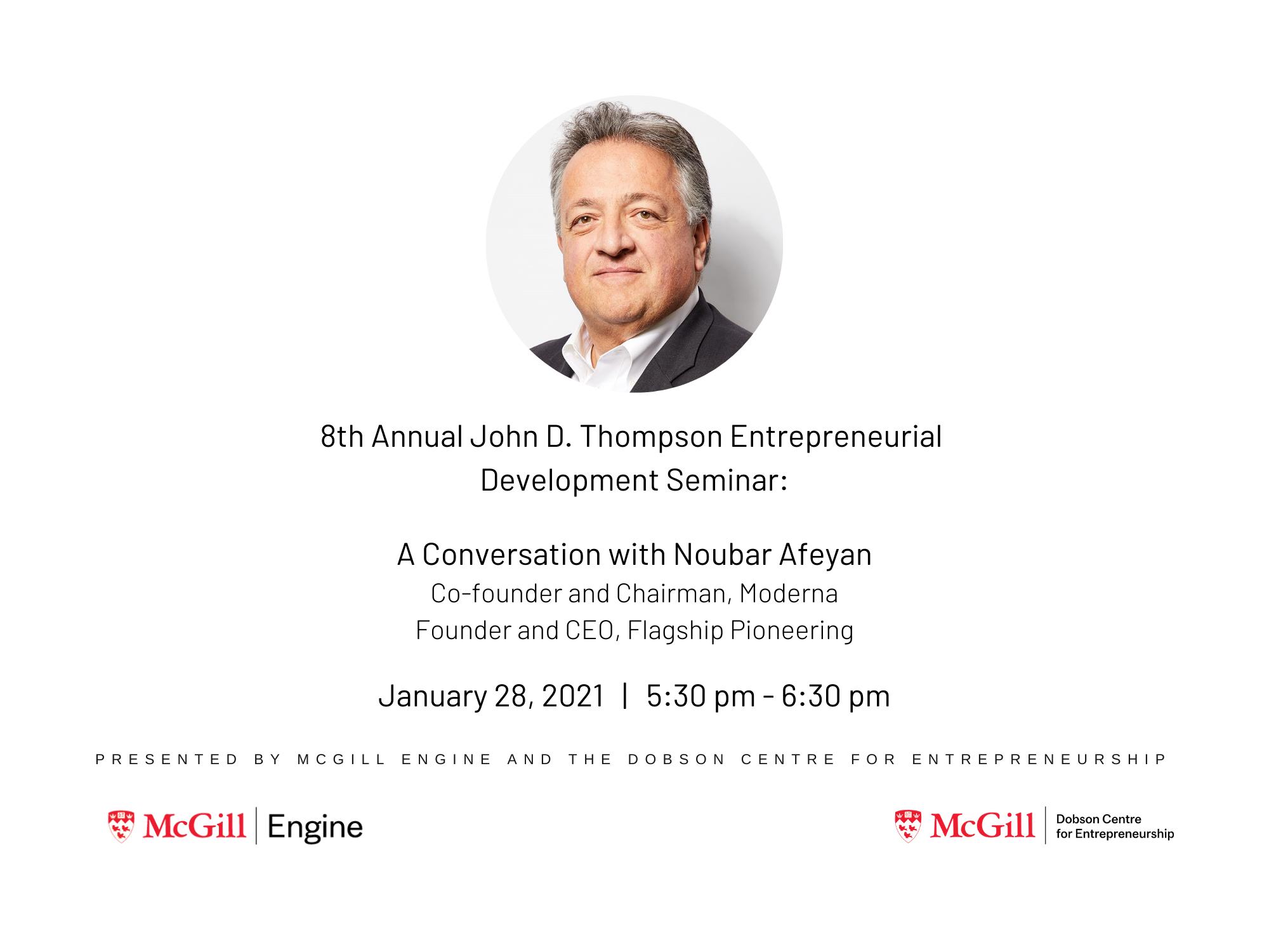 8th Annual John D. Thompson Entrepreneurial Development Seminar