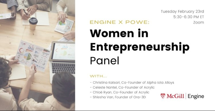 Women in Entrepreneurship Panel
