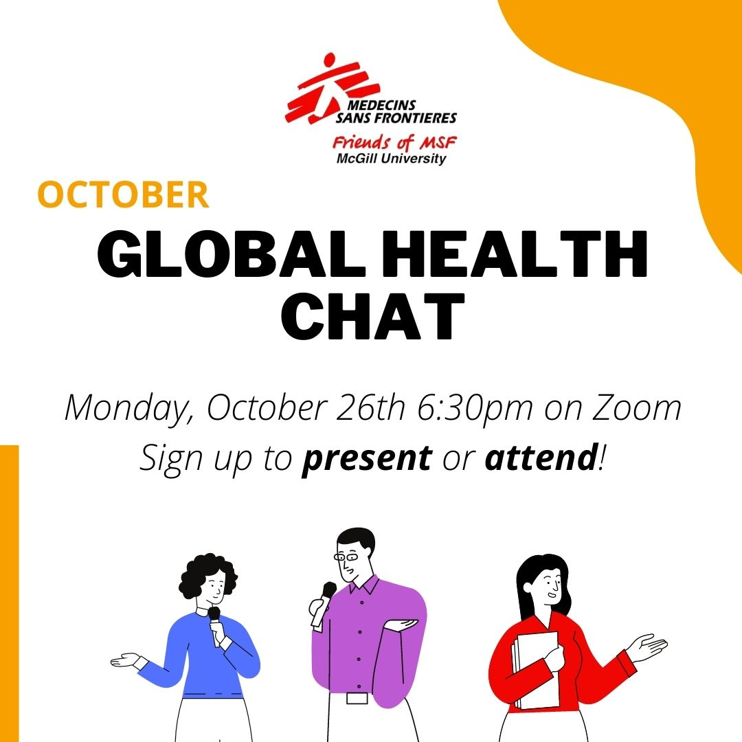 McGill Students' Friends of MSF Global Health Chat